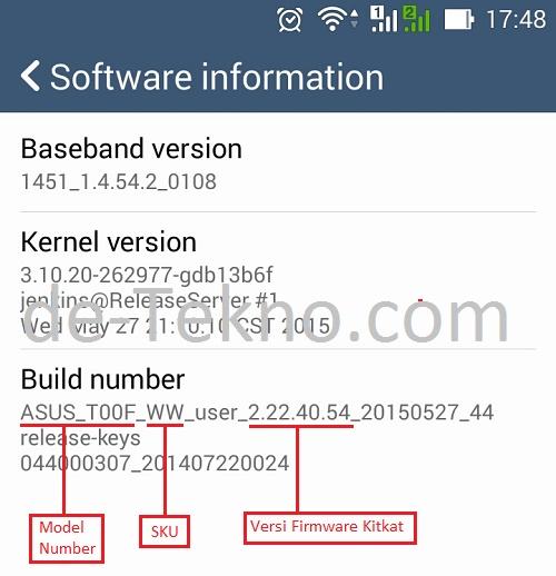 Asus Lollipop upgrade - cek versi firmware Kitkat - de-Tekno